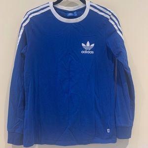 Blue Adidas Long Sleeve Tee